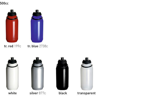 Colores cuerpo bidón Source de Tacx 500 cc personalizado