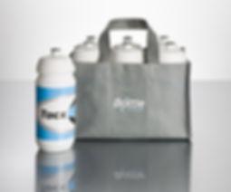 Porta bidones de tela de Tacx para 6 bidones de 500 ó 750 cc personalizado para deporte y ciclismo