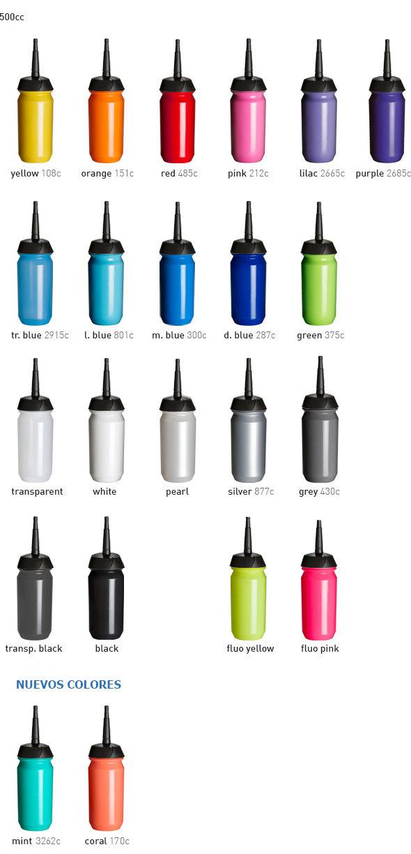 Colores shiva xt - bidón deportivo personalizado para deportes que requieran llevar casco