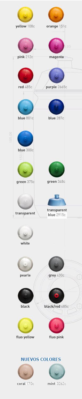 Colores de tapa para bidón deporte personalizado Shiva biodegradable Tacx