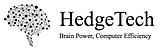 "HedgeTech LLC company logo and slogan: ""Brain power, Computer Efficiency"""