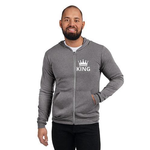 Unisex zip hoodie - KING