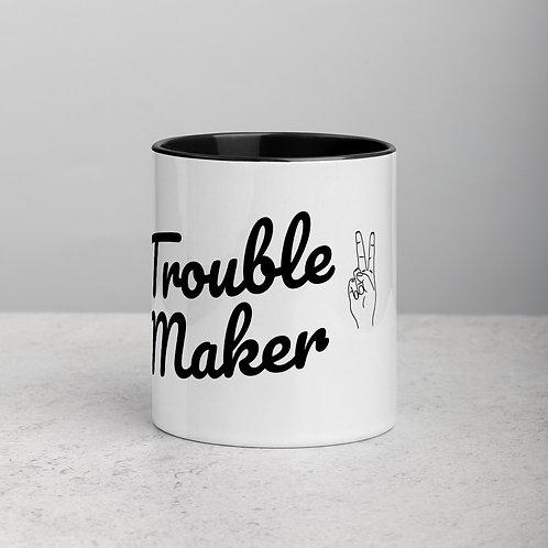 Mug with Color Inside - trouble maker