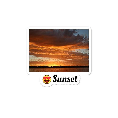 Bubble-free stickers - sunset