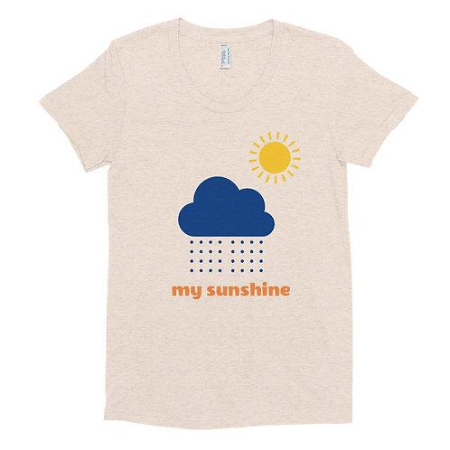 Women's Crew Neck T-shirt - my sunshine
