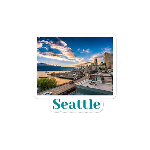 Bubble-free stickers - Seattle
