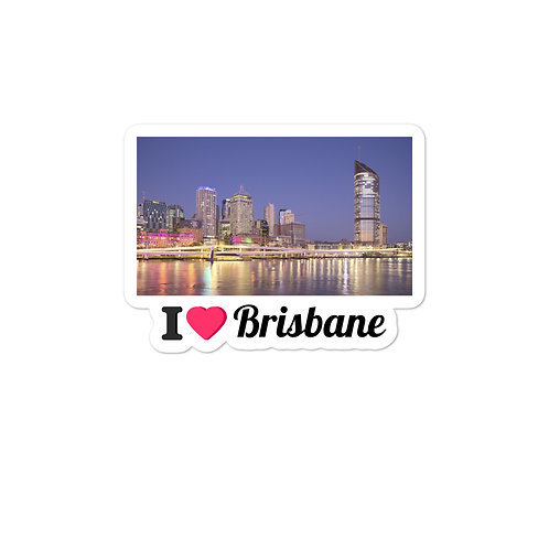 Bubble-free stickers - I LOVE BRISBANE