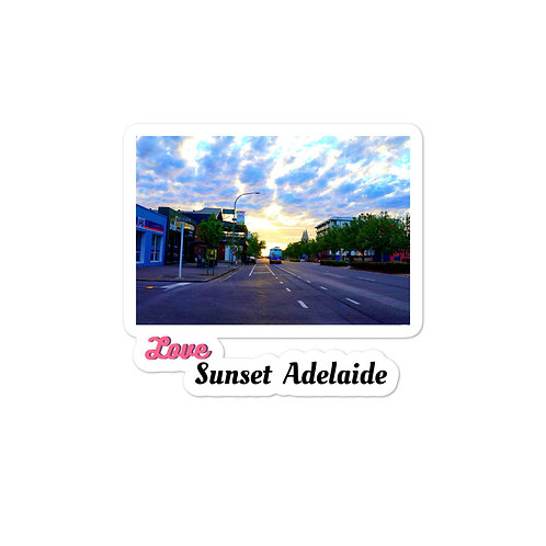 Bubble-free stickers - love sunset adelaide