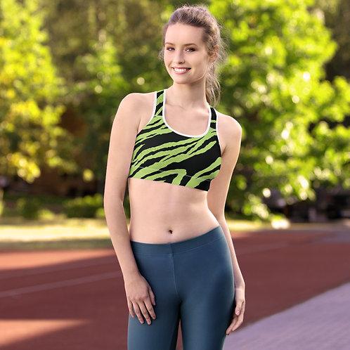 Sports bra - green zebra