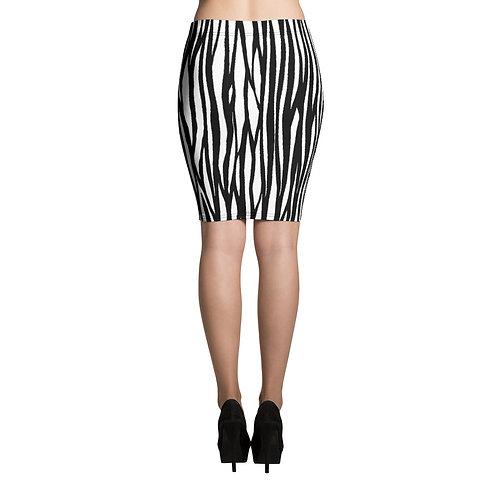 Pencil Skirt - zebra