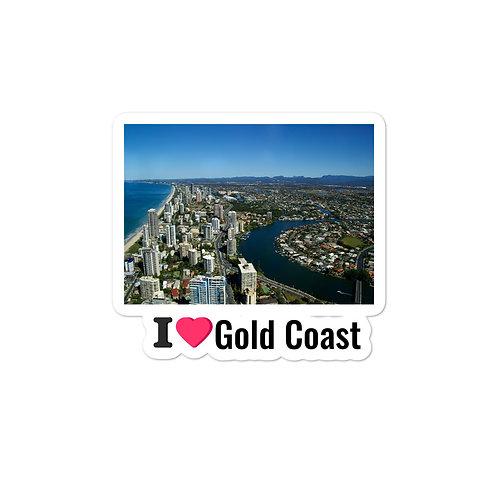 Bubble-free stickers - I love Gold Coast
