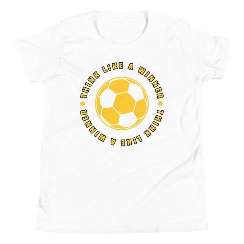 Youth Short Sleeve T-Shirt - think like a winner