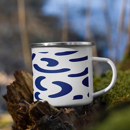 Enamel Mug - blue pattern