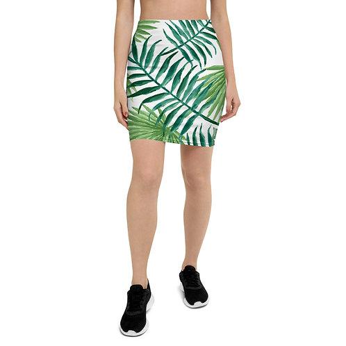 Pencil Skirt - leaf