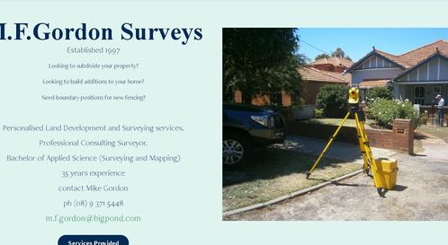 Recommendation: M F Gordon Surveys - Rank - 5 Great! (District: WA)