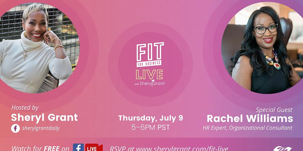 FIT Live Series with Organizational Guru, Rachel Williams!