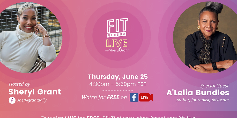 FIT Live Interview, with special guest A'Lelia Bundles!