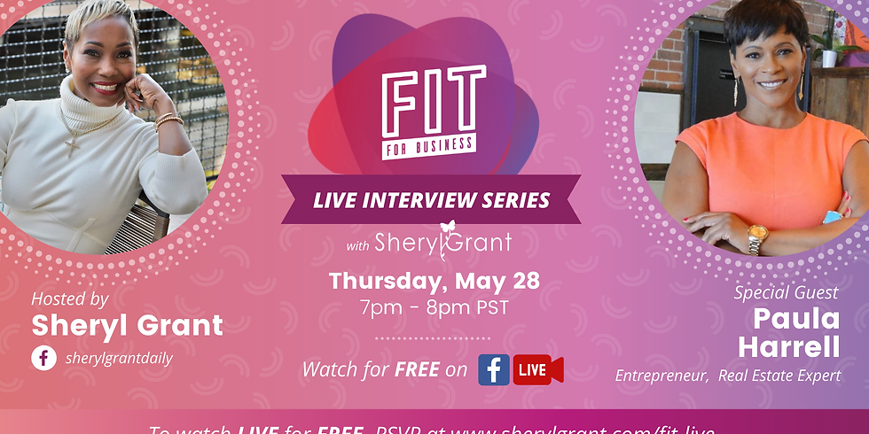FREE FIT Live Interview   Special Guest: Paula Harrell