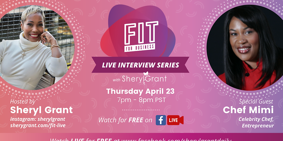 FREE FIT Live Interview | Special Guest: Chef Mimi