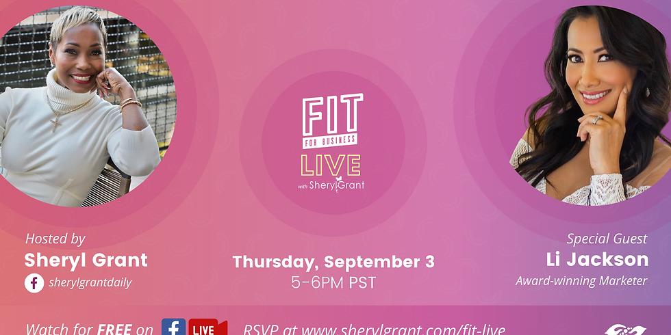 "FIT LIVE! Talking ""Social Entrepreneurship"" with  Award-winning Sales & Marketing Executive, Li Jackson!"