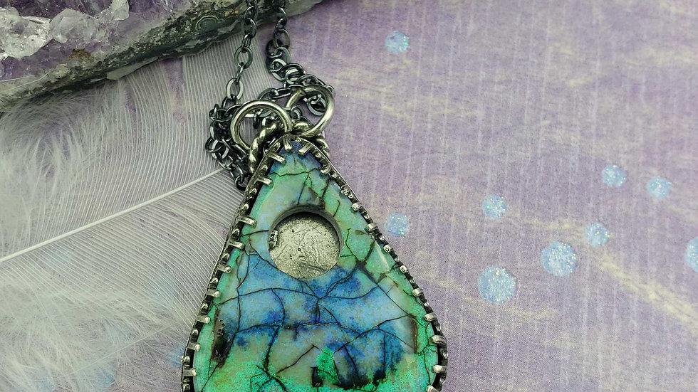 Monarch opal planchette pendant