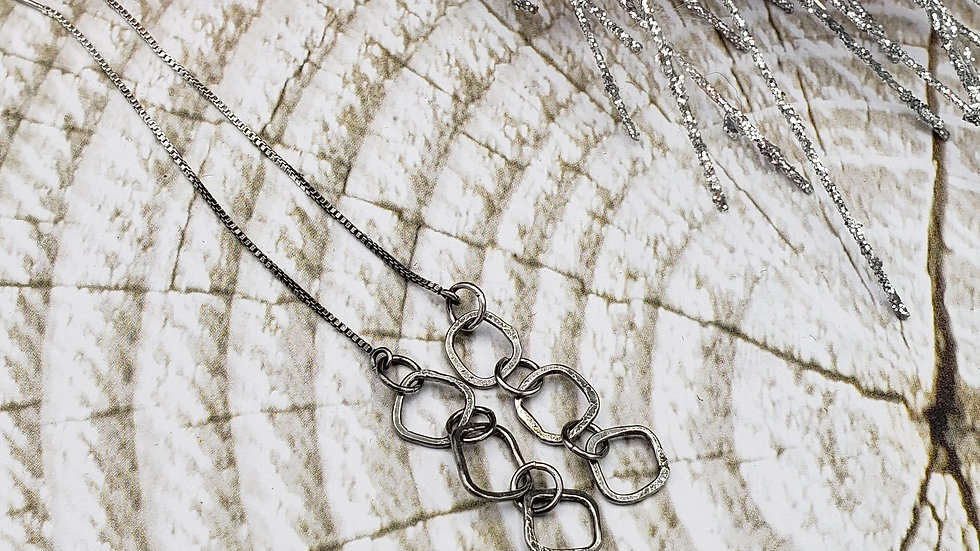Sterling silver chain ear threaders