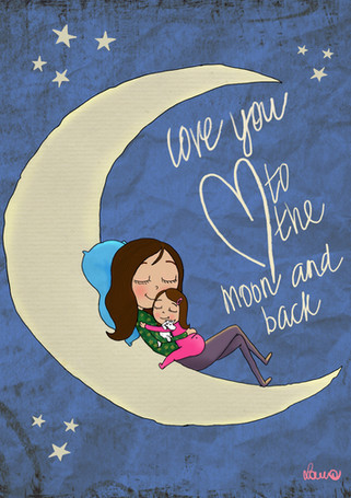 Love you to the moon and back, commission