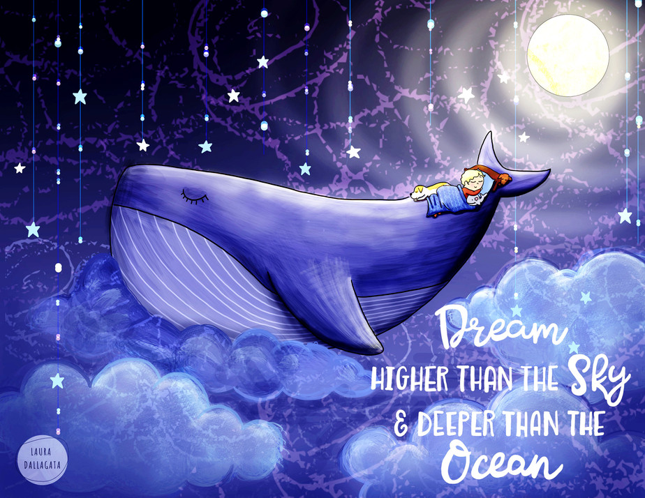 dream higher than the sky and deepr than