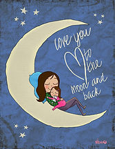Love you to the moon and back_