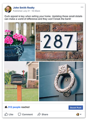 Facebook posts for real estate agents