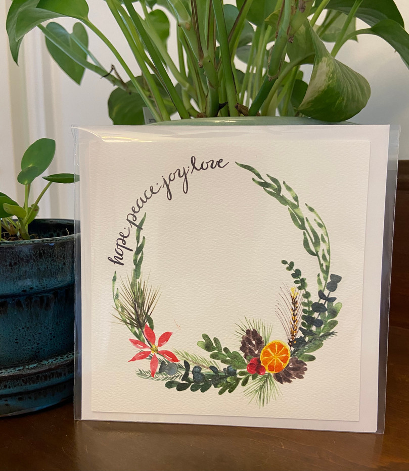 Hope. Peace. Joy. Love Holiday Card_1