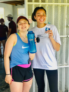 Students traveled to Puerto Rico to provide support after the natural disasters there.
