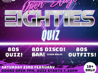 Tickets on sale for 80s quiz and disco
