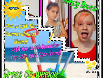 Special dress-up theme weeks for classes