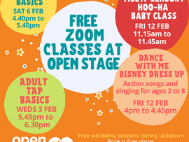 Free wellbeing sessions at Open Stage