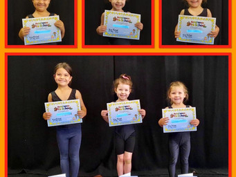 First AcroDance certificates presented!