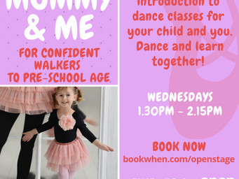 Baby Dance and Mummy & Me courses to start next week