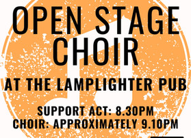 Open Stage Choir to sing at the Lamplighter