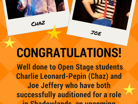 Well done to Chaz and Joe