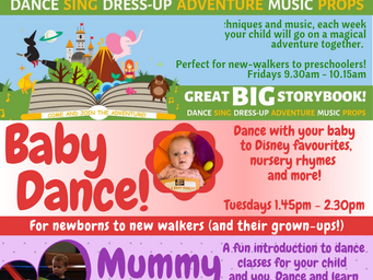 Baby and pre-school courses now booking