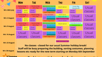 Summer activities at Open Stage