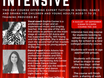 Last chance to book Musical Theatre Intensive