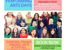 Summer holiday performing arts days