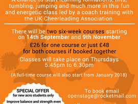New cheerleading course to start