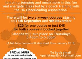New cheerleading course to start