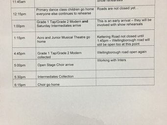 Collection and drop off changes to support families due to the carnival