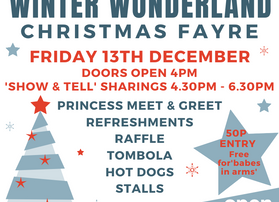 Performance times for Winter Wonderland Christmas Fayre