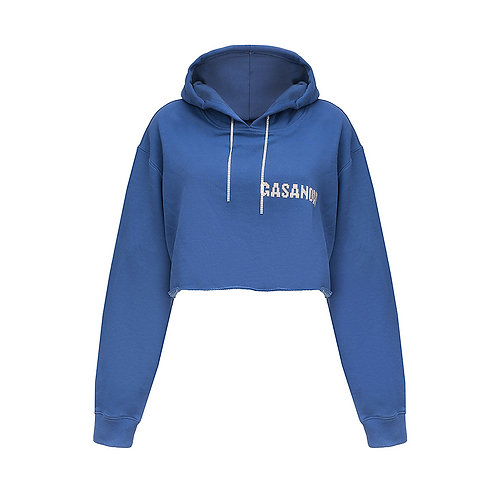 Cropped hoodie GASANOVA with crystals