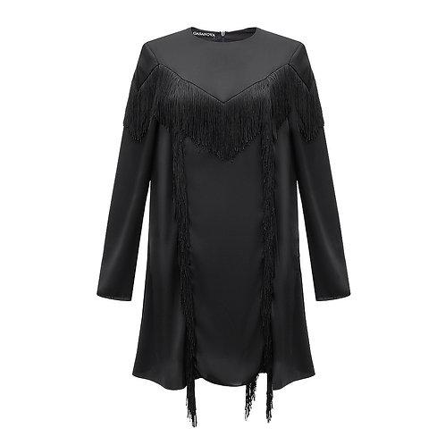 Mini Silk Dress with Fringe NEW 2021
