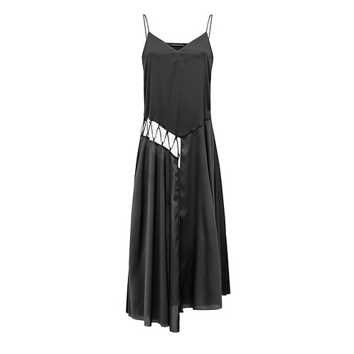 Silk dress with lacing NEW 2021